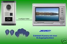 "Türsprechanlage  7"" Farbmonitor ID-Kamera Edelstahl"