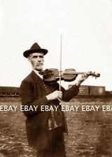 "1927 OLDTIME FIDDLER FIDDLE VIOLIN PLAYER""CHARLIE MAHAR""CENTRALIA WA PHOTO"