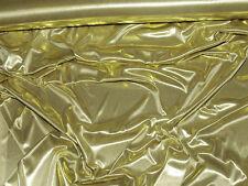 "LIQUID LAME FABRIC GOLD/TAN  45"" BY THE YARD COSTUME"