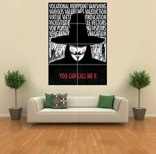V FOR VENDETTA TYPOGRAPHY QUOTES NEW GIANT ART PRINT POSTER PICTURE G1208