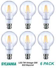 6 x 7W DIMMABLE LED G80 Vintage Clear Filament Light Globes / Bulbs Bayonet B22