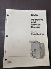 ONAN DJA Diesel Engine Operators Service Shop Manual Book Guide Repair Workshop
