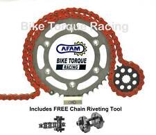 Honda CBR900 RR Fireblade 96-99 AFAM Orange Chain & Sprocket Kit + Rivet Tool