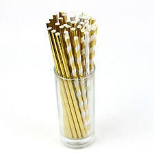 25PCS Assorted Design Party DIY Kitchen tools Straws Drinking Straws Sucker #HO