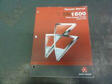 Massey Ferguson 1635 Mf1600 Compact Tractor Operator Manual