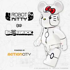 100% Bearbrick White Robot Kitty Be@rbrick Medicom x Sanrio x Action City