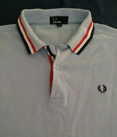 Fred Perry Cotton Polo Slim Fit Twin Tipped Shirt Size M