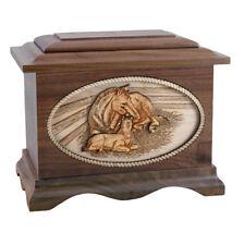 Wood Cremation Urn (Wooden Urns) - Walnut Horse Ambassador