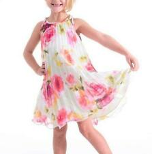 BONNIE JEAN® Little Girl's 6 Pleated Floral Trapeze Dress NWT