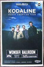 Kodaline 2015 Gig Poster Portland Oregon Concert