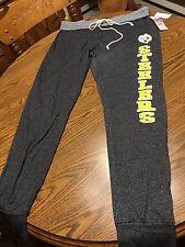 Pittsburgh Steelers NFL Women's Pajamas Sweat Lounge Yoga Pants Gray, Size Large
