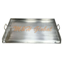 "Stainless Steel 36""x 22"" FLAP TOP GRIDDLE Grill over triple burner stove"