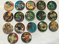 (090) Lot 17 Pog American Game Caps dos Noir Poison Slam # Pogs Cap Tazo