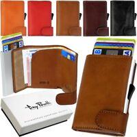 TONY PEROTTI Kartenbörse Slimwallet Minibörse Leder Kartenetui RFID NFC Schutz