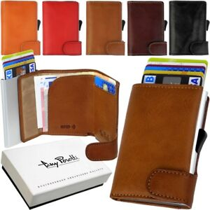 TONY PEROTTI Cards Exchange Slimwallet Mini Wallet Leather Rfid NFC Protection