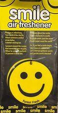 3x New Smile Car Air Freshener Round Smiley Face Vanilla Fragrance Forest Fresh