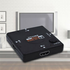 3 Port HDMI Splitter Box 3 In 1 Out 1080p Switch Switcher HUB For HDTV PS3 Xbox