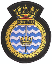 HMS Bulwark Royal Navy RN Surface Fleet Crest MOD Embroidered Patch