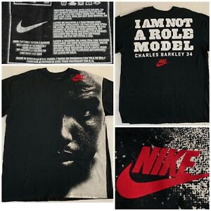 Nike Charles Barkley I AM NOT A ROLE MODEL T-Shirt Phoenix Suns #34 NBA XXL