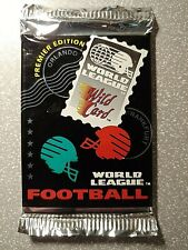 1992 AAA Sports Wild Card World League Football Premiere Edition Pack