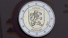 2 euro 2017 LETTONIA Curlandia Kurzeme Lettonie Lettland Latvia Латвия Ливония