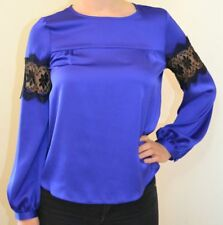 DOROTHY PERKINS NEW UK 14 LADIES LACE INSERT BLOUSE TOP
