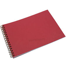 Red A4 Dry Mount Photo Album Leather Look Wirebound Memory Souvenir Journal Book
