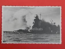 Kriegsmarine shiff shiffen NAVE vecchia cartolina 6 affondamento naufragio