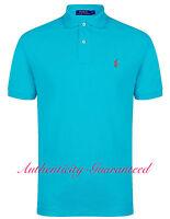 Ralph Lauren Mens Classic Fit Short Sleeve Polo Shirt Aqua S - XXL RRP £75 BNWT