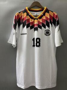 Germany 1994 Home KLINSMANN 18 Retro Football Jersey Short Sleeve Mens