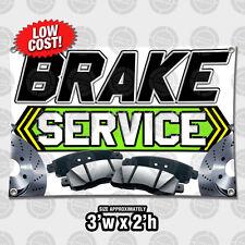 2' x 3' Brake Service Auto Repair Outdoor Indoor Wall Banner Open Sign Tire Shop