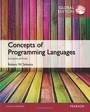 Concepts of Programming Languages (11th Ed) by Robert W. Sebesta(Global Edition)