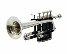 Piccolo Pro Trumpet Black Nickel Finish Bb/A with Hard Case & Mouthpiece