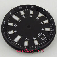 33mm Black Steril Dial Luminous Date fit 2824 2836 Miyota 8215 8205 movement