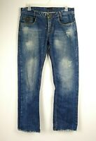 Dsquared2 Men's Jeans Straight Leg Distressed Size 38x34 Measures 36x30 Hemmed