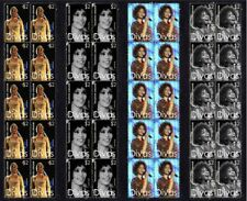 WHITNEY HOUSTON 'DIVAS' SET OF 4 MINT STAMP STRIPS