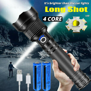 XHP90 Most Powerful 990000LM Tactical Flashlight Zoomable LED Hunting Torch Lamp