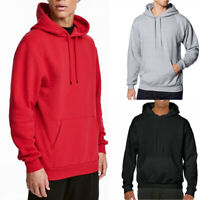 Mens Warm Hoodie Hooded Sweatshirt Coat Jacket Outwear Jumper Winter Sweater
