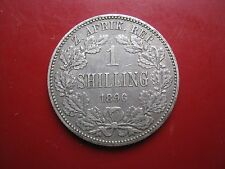 South Africa ZAR 1896 Silver One Shilling Coin Paul Kruger