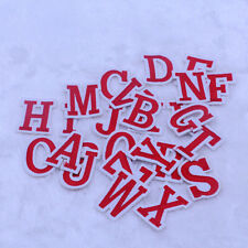 26PCS  ABC letter Embroidered Cloth Iron On Patches Sewing Fabric Motif Applique