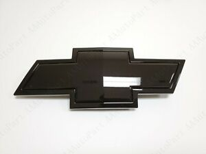 Gloss Black Front Grille Bowtie Emblem Badge Fit For 07-13 Silverado 22829421