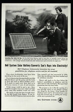 1956 BELL TELEPHONE System - Solar Battery - Converts Sun's Rays - VINTAGE AD