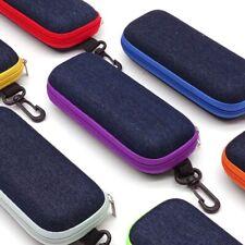 Portable Rectangular Zipper Eye Glasses Sunglasses Hard Case Storage Box Holder