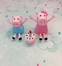 Edible Peppa Pig & George Pig Cake Toppers For Peppa Pig Theme Birthday Cake