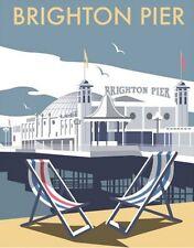 Brighton Pier by Dave Thompson fridge magnet   (se)
