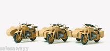 Preiser 16563 Motorrad Zündapp KS 750, DR 1939-45,  3 Stück, Bausatz, H0