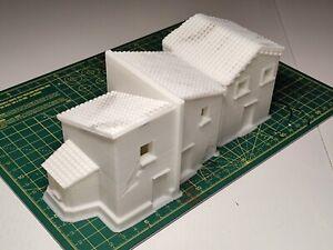 20mm Scale Terrain Scenery Hispanic Village Buildings - 2 Items