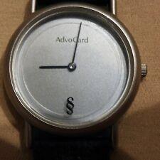 Damen Armbanduhr  ADVO CARD - PARAGRAPH Quarzuhr 34mm - Silber - Lederarmband