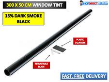 Negro de humo oscuro 15% Coche Tintado 3 M x 50 cm rollo de película de 20-33 Kit de teñido