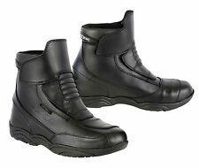 Genuine Leather Motorbike Motorcycle Boots Armoured Shoes Short Ankle Racing